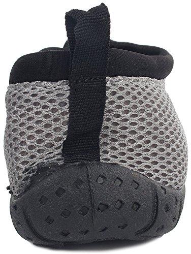 Einfache USA Männer Wasser Schuhe Reißverschluss Nylon Gummisohle Outdoor Sports Zip-grau