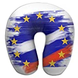 Gtrgh Europe Flag Russia Countries Super U Type Pillow Neck Pillow Outdoor Travel Pillow Relief Neck Pain