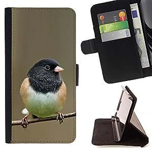 - bird black branch spring winter nature - - Prima caja de la PU billetera de cuero con ranuras para tarjetas, efectivo desmontable correa para l Funny HouseFOR LG OPTIMUS L90