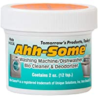 Ahh-Some - Washing Machine Bio Cleaner & Dishwasher Cleaner -Works For All Washer Top & Front Loaders Front Removes Odor…