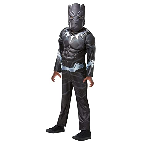 Rubies - Disfraz de Black Panther de gran calidad para niño, I-640909L, talla L
