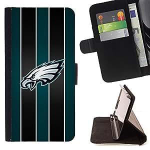 KingStore / Leather Etui en cuir / HTC One M8 / Eagle Hawk Equipo deportivo