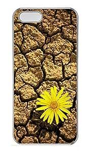 iPhone 5 5S Case Life tenacious flowers PC Custom iPhone 5 5S Case Cover Transparent