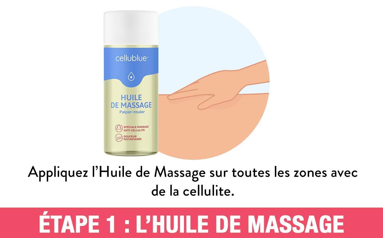 Kit Découverte Anti Cellulite Huile + Ventouse CELLUBLUE