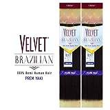 Outre Remy Human Hair Weave Velvet Brazilian Perm Yaki (12', 1)