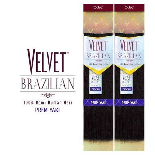- Outre Remy Human Hair Weave Velvet Brazilian Perm Yaki (12
