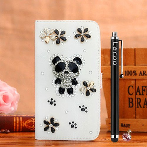 Locaa(TM) For Vodafone Smart Turbo 7 New Cover Design Case 3D Bling Leather