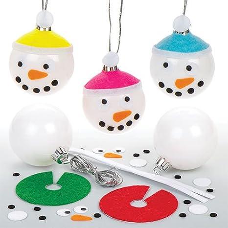 Immagini Natalizie Per Bambini.Kit Palline Natalizie Con Pupazzi Di Neve Per Bambini Da Creare E