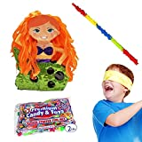 Pinatas Mermaid Kit - Includes, 2 Lbs. Filler, Buster Stick and Bandana