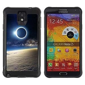 "Pulsar iFace Series Tpu silicona Carcasa Funda Case para SAMSUNG Galaxy Note 3 III / N9000 / N9005 , Luna Sun Eclipse Tierra Atmósfera Ver"""