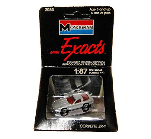Monogram Exacts: 1:87 Ho Scale Silver Corvette ZR-1
