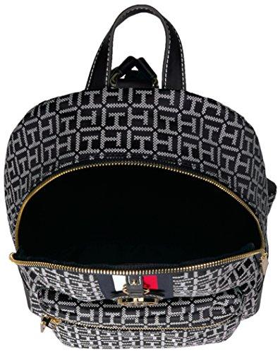 Tommy Hilfiger Women's Backpack Jaden, Black/White by Tommy Hilfiger (Image #3)
