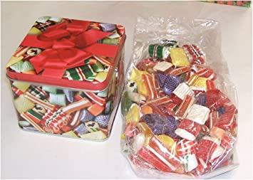 hammonds old fashioned hard christmas candy tin mix holiday gift 20 ounce tin - Old Fashioned Hard Christmas Candy