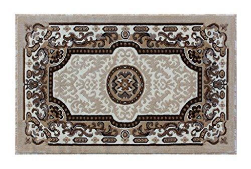 Kingdom Traditional Area Rug Design D 123 Ivory (3 Feet X 4 Feet 7 ()