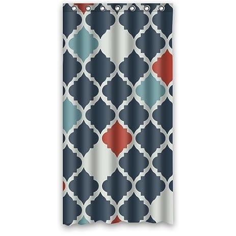 Beautiful Coral Quatrefoil Pattern Fabric Shower Curtain Waterproof Bathroom  Curtains 36u0026quot; ...
