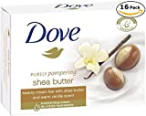 Dove Beauty Bar Soaps Shea Butter 16 Bars, 4.76 Oz/135 Grams Each For Sale