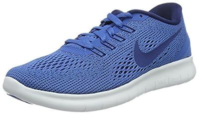 NIKE Women's Free RN Running Shoe Star Blue/Off White/Coastal Blue 8.5