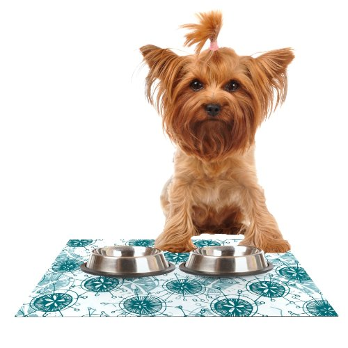Kess InHouse Anchobee Satellite  Feeding Mat for Pet Bowl, 18 by 13
