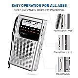 AM/FM Radio, AM/FM Pocket Radio Portable with