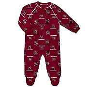 NCAA South Carolina Fighting Gamecocks Newborn & Infant Raglan Zip up Coverall, Garnet, 0-3 Months