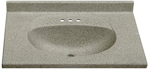 Imperial FB3122CAPSS Olympic Oval Bowl Bathroom Vanity Top, 31-Inch Wide by 22-Inch Deep, Cappuccino Matte Finish