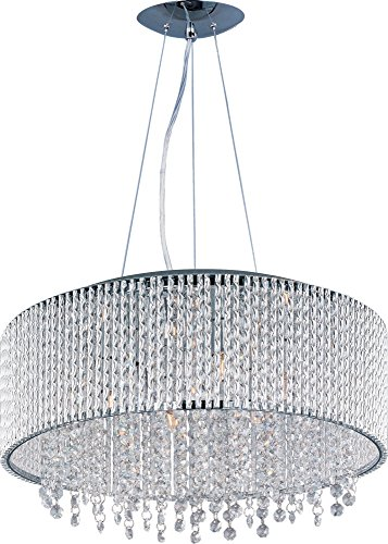 - ET2 E23137-10PC Spiral 10-Light Single Pendant, Polished Chrome Finish, Glass, G9 Xenon Bulb, 7.5W Max., Dry Safety Rated, 2700K Color Temp., Acrylic Shade Material, 2646 Rated Lumens