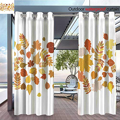 Light Sturbridge 6 (QianHe Outdoor Blackout Curtains Autumn-Background-with-Colorful-Leaves-6.jpg Outdoor Privacy Porch Curtains W120 x L84(305cmx214cm))