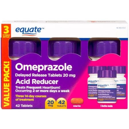 Equate Omeprazole Delayed Release Tablet 20Mg Acid ReducerNew Value Pack Size 84 Count