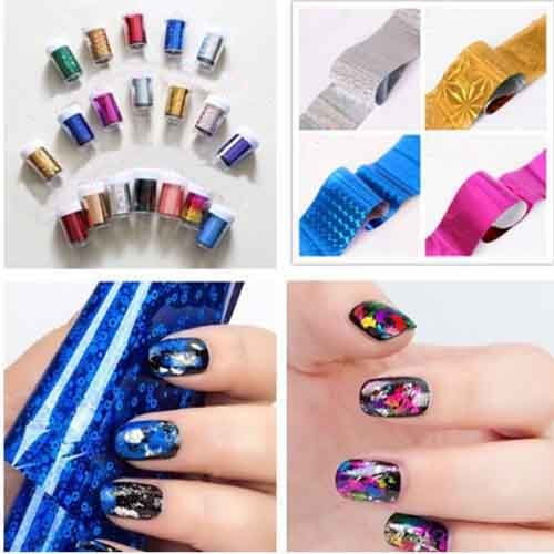 Nail Art Nail Sticker Decal Foil Beauty-Random Color 5Pcs by Hob Shop (Image #4)