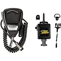 Astatic 636L Noise Canceling CB Radio 4 pin Microphone and RT3-4112 Gear Keeper