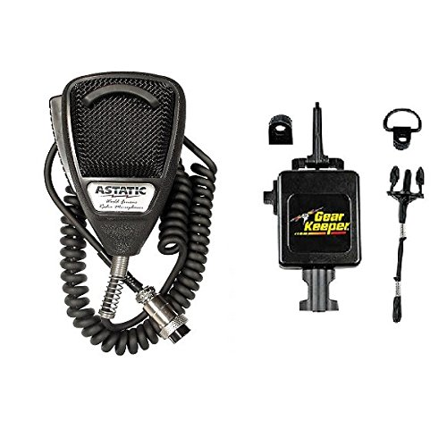 Astatic 636L Noise Canceling CB Radio 4 pin Microphone and RT3-4112 Gear Keeper by Astatic