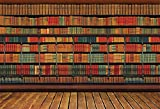 CSFOTO 8x6ft Background For Retro Bookshelf Study Photography Backdrop Shelf Bookshop Bookcase Vintage Classic Literature Retro Wood Research Hardcover Student Library Photo Studio Props Wallpaper