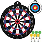 GIGGLE N GO Reversible Magnetic Dart Board for Kids - 1 Fun Kids Game on Each Side, Just Turn It Around and Play a Different Fun Game