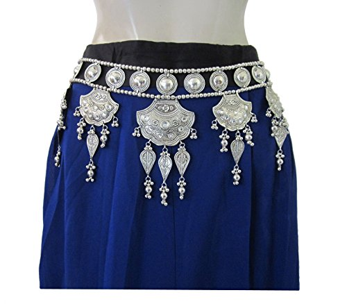 Belly Dancing Costumes Cheap (Womens Tribal Tie Belt - Handmade - Gypsy Hippie Boho Festival Halloween Fashion Accessory - Belly Dance Dancing Dancer Costume Dress Outfit Skirt Pants Hip Scarf Waist Band Novelty Jewelry - Gift)