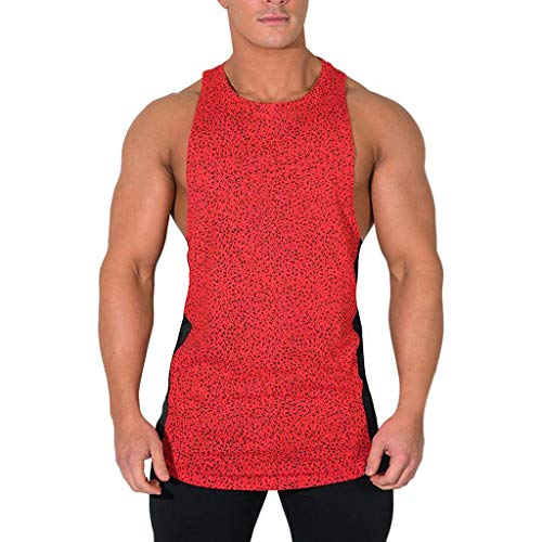 Western Red Cedar Beams - Mens Gym Loose Quick-Dry Fitness Vest, MmNote Muscle Fitness Technology Lightweight Microfiber Bodybuilding Stringer Tank Red