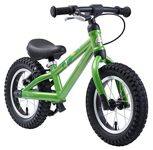 🥇 BIKESTAR Bicicleta sin Pedales para niños y niñas 3-4 años | Bici con Ruedas de 12″ Edición Bici de montaña | Verde