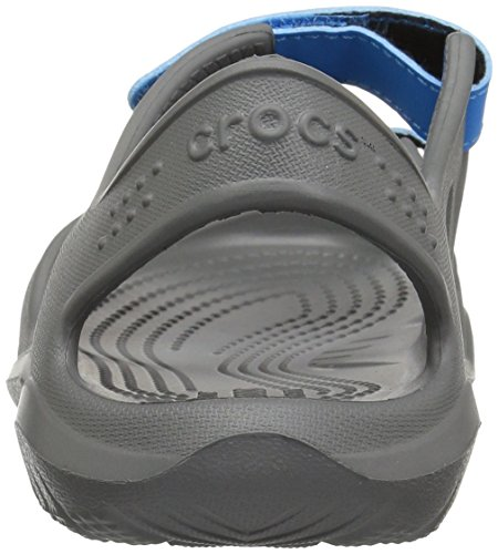 Crocs unisex-kids Swiftwater River Sandal Sandal, Slate Grey/Ocean, 2 M US Little Kid by Crocs (Image #2)