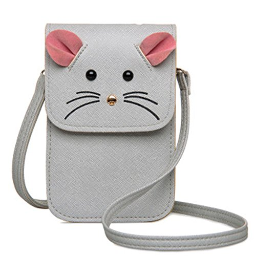 ZOONAI Mini Crossbody Bag Cellphone Wallet Change Pouch for iPhone 6S/6 Plus Bag Fashion Camera Wallet