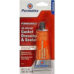 Permatex 85420 4 Pack 2 oz. PermaShield Fuel Resistant Gasket Dressing and Flange Sealant