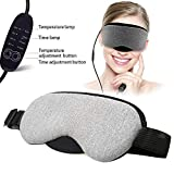 Hot Steam Eye Mask Electric Heating Eye Mask, Portable USB Heated Steam Eye Mask for Sleeping Masks Relieving Insomnia Blepharitis Puffiness Dry Black Eyes