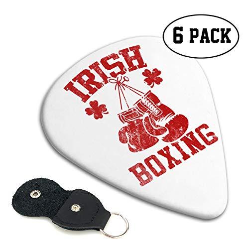 Irene Merritt Guitar Picks- Ireland Boxing Guitar Picks With Leather Cases Bag £¨6 Pack£]()