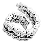 Brand New Men's Titanium Stainless Steel Super Powerful Harley Bike Chain Design Bracelet Sporting