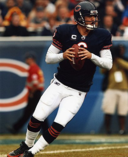 JAY CUTLER CHICAGO BEARS 8X10 HIGH GLOSSY SPORTS ACTION PHOTO (M)