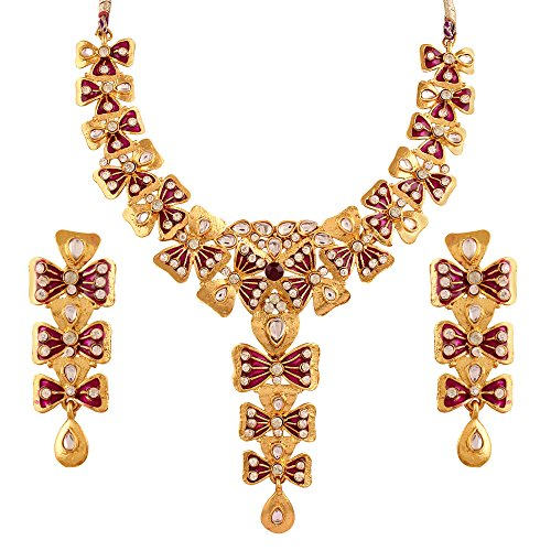 Variation Meenakari Tradiiotional Designer Bridal Necklace Set for Women- VD14164