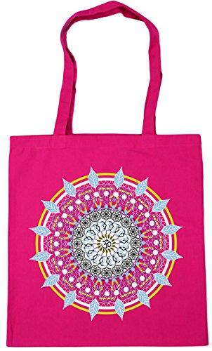 Shopping Mandala 10 Bag Spiritual 42cm x38cm litres Fuchsia Gym Colourful Beach HippoWarehouse Tote Tattoo wpBCaq