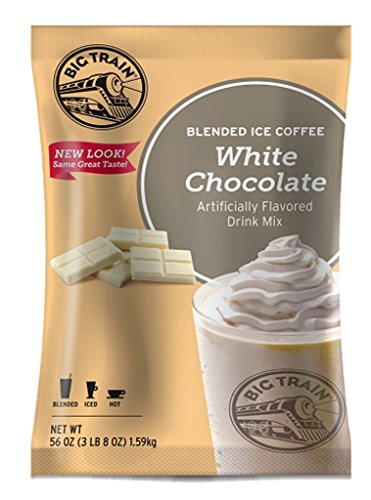 White Chocolate Cookie Mix - Big Train Blended Ice Coffee, White Chocolate Latte, 3.5 Pound, Powdered Instant Coffee Drink Mix, Serve Hot or Cold, Makes Blended Frappe Drinks