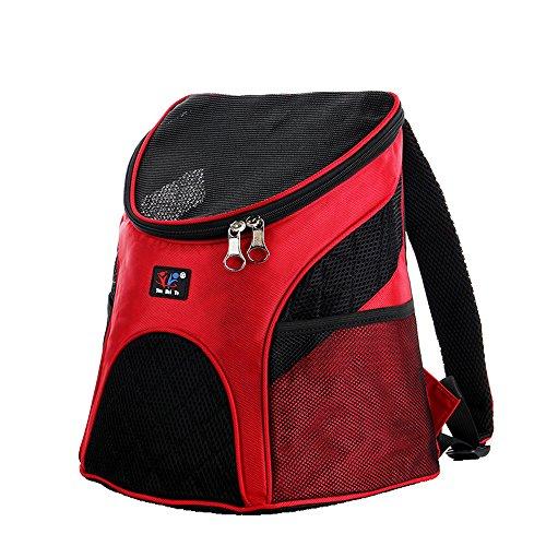 Backpack Mochila Respirables para Gatos y Perros, Mochila para Mascotas en el Pecho,Teddy Fuera Bolsa de Transporte Red
