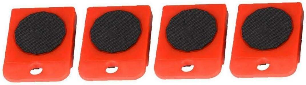Naisicatar Muebles Pesada Shifter Levantador De Ruedas En Movimiento Equipo Deslizador Mover El Retiro F/ácil Mover Rojo