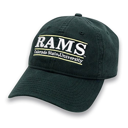 The Game NCAA Colorado State Rams Adult Unisex Classic Adjustable Hat, Dark Green (Rams Colorado Logo State)