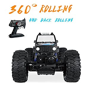 Remote Control Car-High Speed 360 Degree Rolling Rock Crawler Buggy RC Monster, 2.4GHz , 1:14 Scale, 20+MPH ,4WD Back Rolling Radio Control Car for kids/Adult